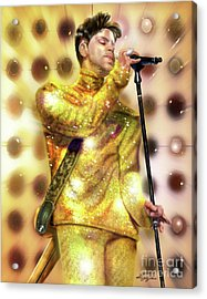 Prince Diamonds And Pearls Acrylic Print by Reggie Duffie
