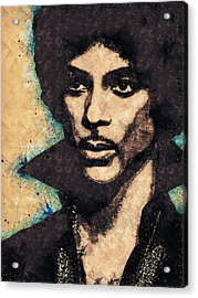 Prince Illustration Acrylic Print
