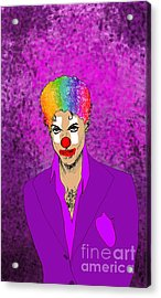 Acrylic Print featuring the drawing Prince by Jason Tricktop Matthews