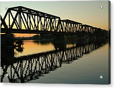 Prince Of Wales Bridge At Sunset. Acrylic Print