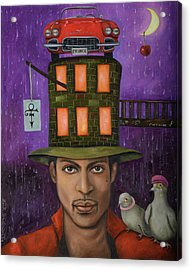 Prince Pro Image Acrylic Print by Leah Saulnier The Painting Maniac