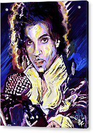 Prince Purple Rain Art Acrylic Print