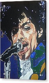 Prince Acrylic Print by Rachel Natalie Rawlins