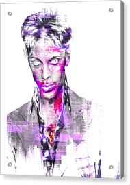 Prince Rogers Nelson Digital Painting Musician Acrylic Print by David Haskett