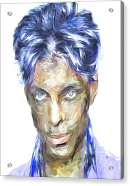 Prince Rogers Nelson Digital Painting Portrait Acrylic Print by David Haskett
