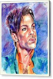 Prince Rogers Nelson Super Bowl 2007 Portrait Acrylic Print