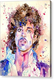 Prince Rogers Nelson Watercolor Acrylic Print