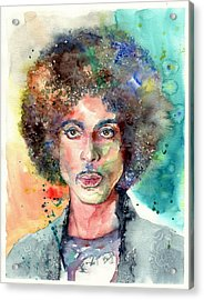 Prince Rogers Nelson Young Portrait Acrylic Print