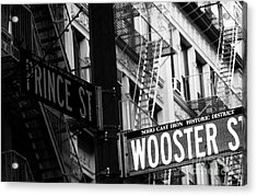 Prince St Wooster St Acrylic Print