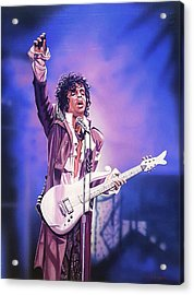 Prince The Legend Acrylic Print by Joshua Jacobs