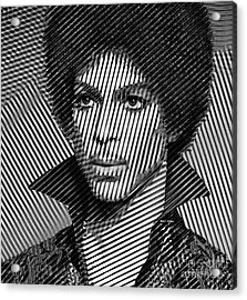 Prince - Tribute In Black And White Sketch Acrylic Print