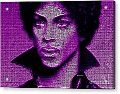 Prince - Tribute In Purple Acrylic Print by Rafael Salazar