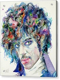 Prince - Watercolor Portrait Acrylic Print