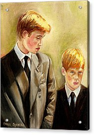 Prince William And Prince Harry Acrylic Print by Carole Spandau