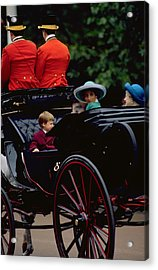 Prince William And Princess Diana On The Mall Acrylic Print