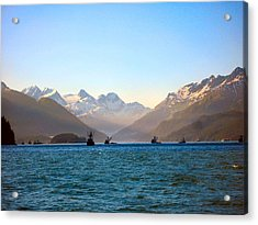 Prince William Sound Fishing Seiners Acrylic Print by Adam Owen