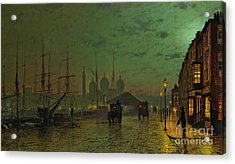 Prince's Dock Hull Acrylic Print by John Atkinson Grimshaw