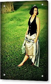 Princess Along The Grass Acrylic Print