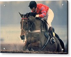 Princess Anne Riding Cnoc Na Cuille At Kempten Park Acrylic Print