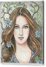 Princess Blue Acrylic Print