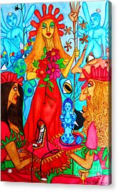 Acrylic Print featuring the painting Princess Countrywoman. by Don Pedro De Gracia