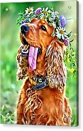 Acrylic Print featuring the photograph Princess Daisy by Kathy Tarochione