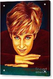 Princess Diana  Acrylic Print by Anastasis  Anastasi