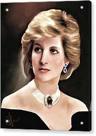 Princess Diana Acrylic Print by Pennie  McCracken