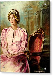 Princess Diana The Peoples Princess Acrylic Print by Carole Spandau