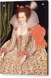 Princess Elizabeth The Daughter Of King James I Acrylic Print by Marcus Gheeraerts