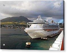 Princess Emerald Docked At Barbados Acrylic Print
