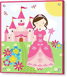 Princess-jp3009 Acrylic Print by Jean Plout