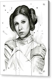 Princess Leia Portrait Carrie Fisher Art Acrylic Print