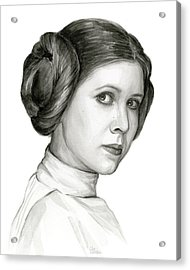 Princess Leia Watercolor Portrait Acrylic Print