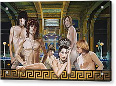 Princess Margaret Gets Stoned Acrylic Print by Jo King
