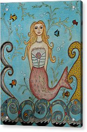 Princess Mermaid Acrylic Print by Rain Ririn