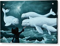 Princess Of Whales Acrylic Print by Mark Zelmer