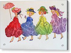 Princess Parade Acrylic Print by Marilyn Jacobson