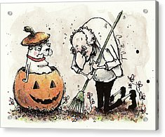 Princess The Alpha Male In A Jack-o'-lantern Acrylic Print by Connor Reed Crank