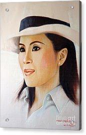 Princess Ubonrat Rachakanya Acrylic Print by Chonkhet Phanwichien