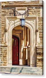 Acrylic Print featuring the photograph Princeton University 1901 Laughlin Hall by Susan Candelario