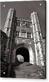 Princeton University Buyers Hall Tower Stairs Acrylic Print by Olivier Le Queinec
