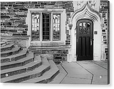 Acrylic Print featuring the photograph Princeton University Lockhart Hall Bw by Susan Candelario
