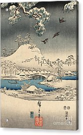 Print From The Tale Of Genji Acrylic Print by Hiroshige