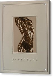 Print Of Sculpture By The Artist Acrylic Print by Gary Kaemmer