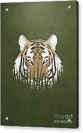 Hiding Tiger Acrylic Print by Sinisa Kale