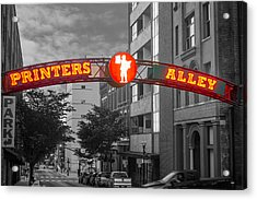 Printers Alley Sign Acrylic Print