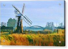 Priory Windmill Acrylic Print