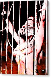 Acrylic Print featuring the painting Prisoner by Tbone Oliver