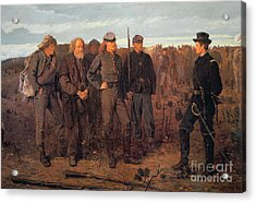 Prisoners From The Front Acrylic Print by Winslow Homer